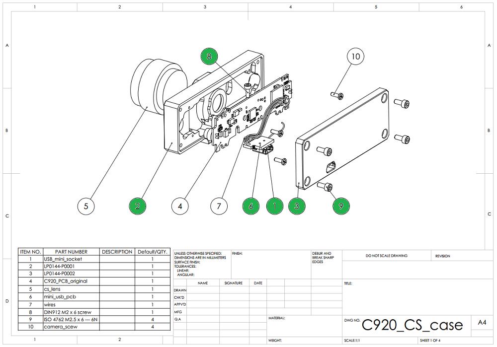 Lukse.lt » Modifying Logitech C920 for CS lensesLukse.lt