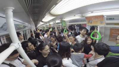 Rush hour in subway